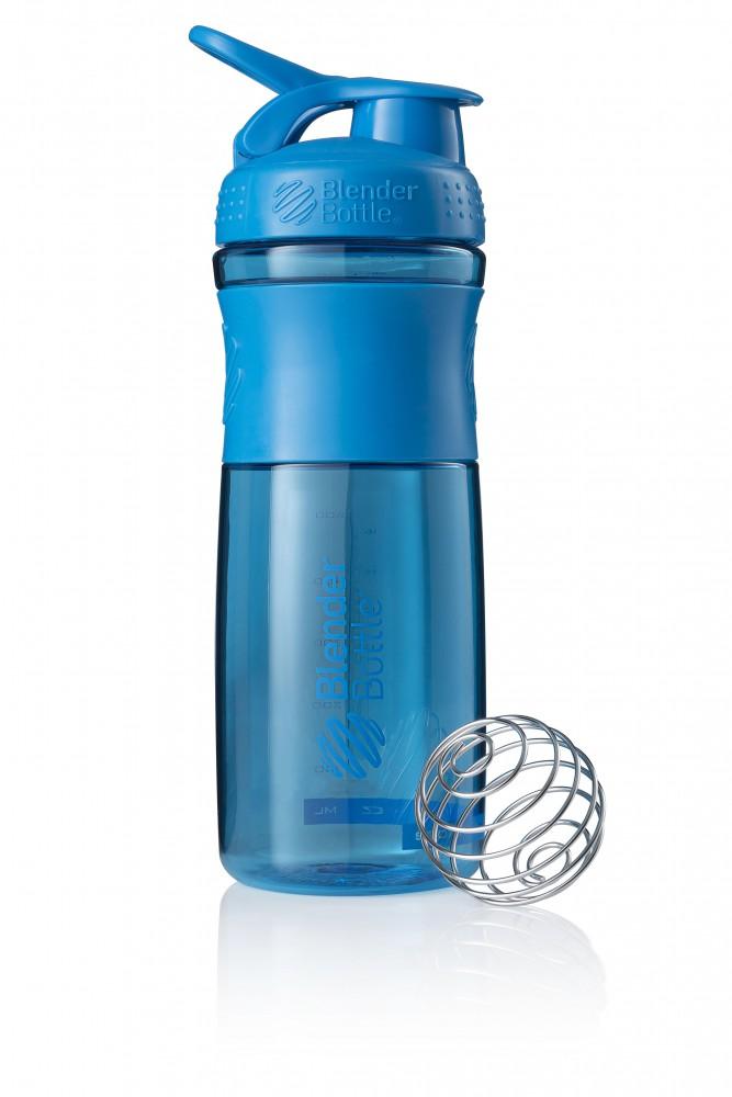 Športová fľaša Blender Bottle SportMixer Grip Turquoise 820 ml Modrá