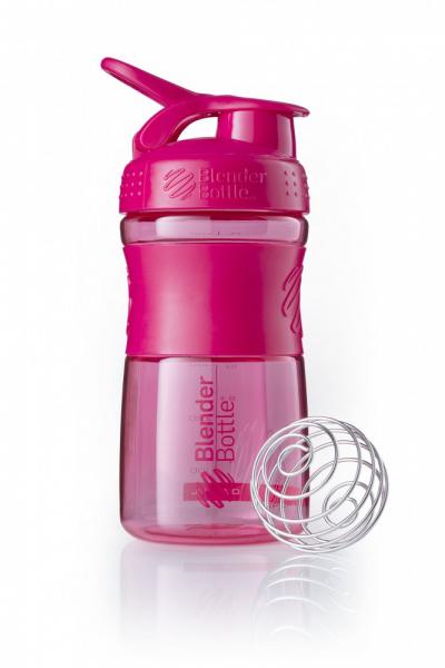 Športová fľaša Blender Bottle SportMixer Grip Pink 590 ml