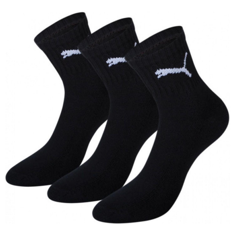 Ponožky PUMA Short Crew 3-pack Black Čierna 43-46