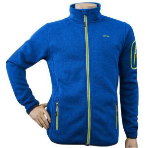 Pánska mikina GTS Knitted Fleece Jacket Blue