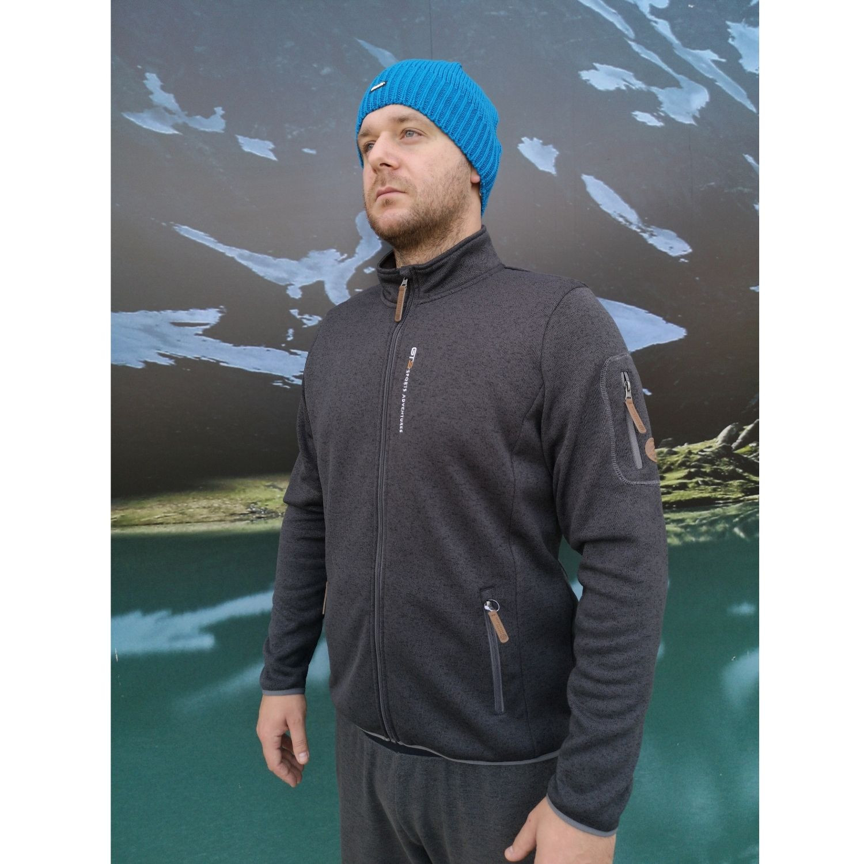 Pánska mikina GTS Knitted Fleece Jacket Black Čierna L