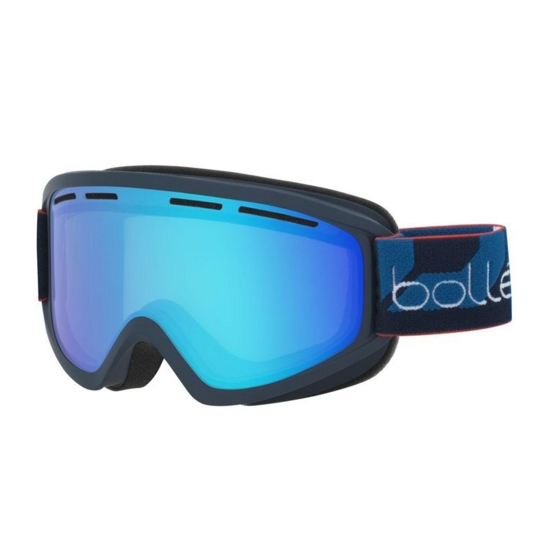 0a1faddff Lyžiarske okuliare BOLLÉ Schuss Matte NavyLight Vermillon Blue 1819  Čierno-modrá