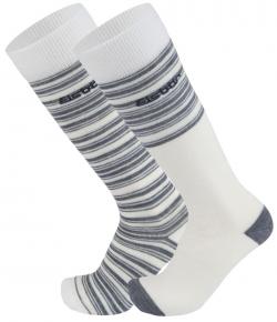 Podkolienky EISBÄR Ski Comfort 2 Pack Off White/Grey 18/19