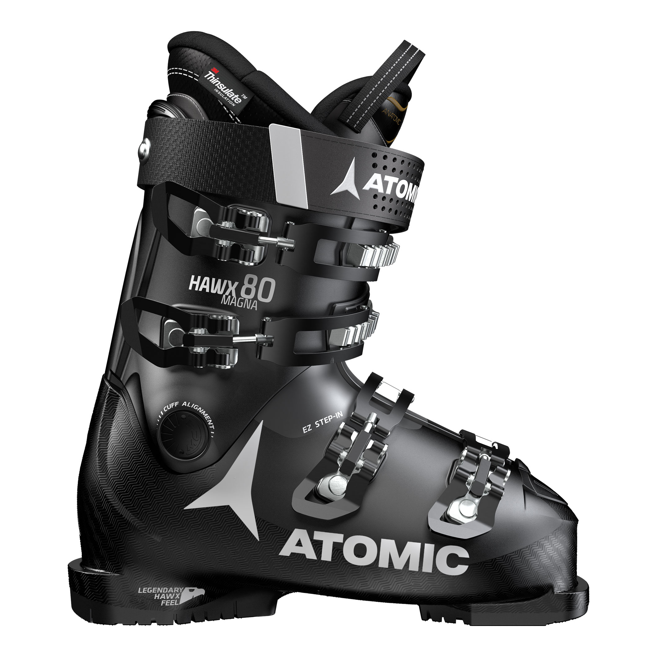 Lyžiarky ATOMIC Hawx Magna 80 Black / Anthracite - 18/19 Čierna 30.0/30.5
