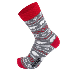 Ponožky EISBÄR Easylife Jacquard Grey Red