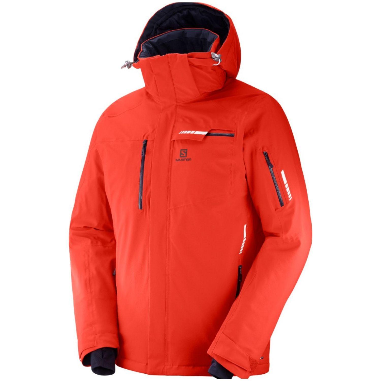 Lyžiarska bunda SALOMON Brilliant Jkt M Fiery Red Červená M