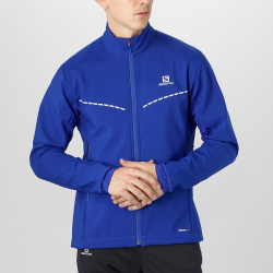 Bunda SALOMON Agile Softshell Jkt M Surf The Web Blue