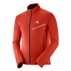 SALOMON Agile Softshell Jkt M Fiery Red/Night Sky