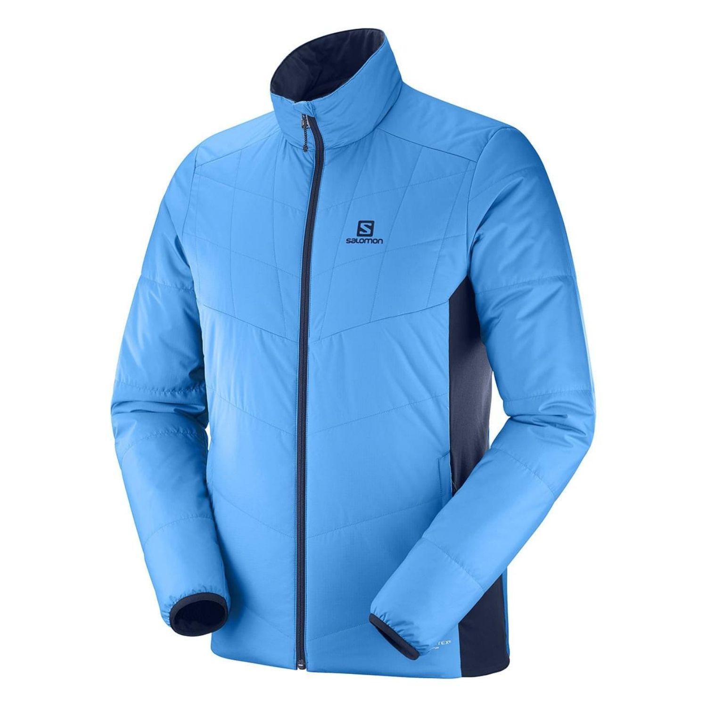 Obojstranná bunda SALOMON Drifter Mid Modro-sivá L
