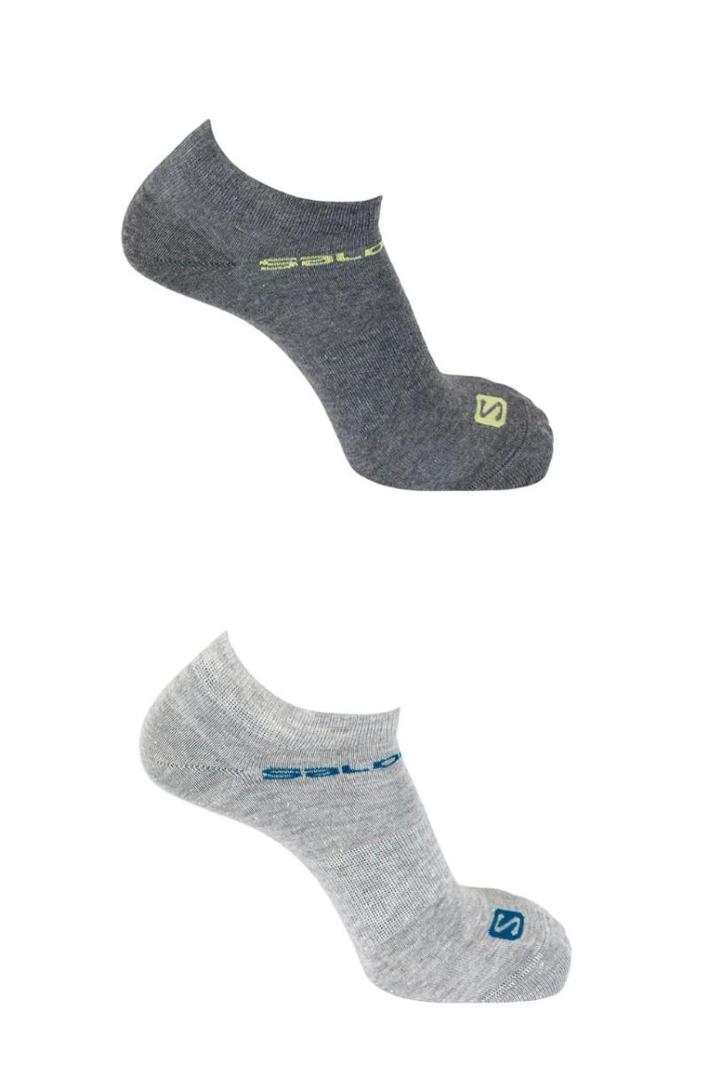 Ponožky SALOMON Festival 2-Pack Light Grey/Light Grey 18/19 Sivá XL