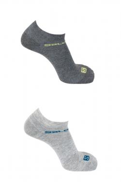Ponožky SALOMON Festival 2-Pack Light Grey/Light Grey 18/19