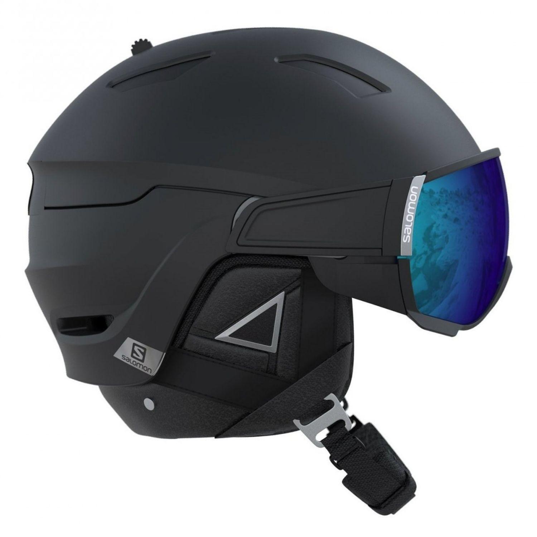 Lyžiarska prilba SALOMON Driver+ Black/Silver/Solar Čierna 59-62 cm
