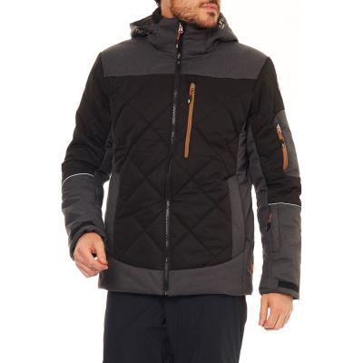 Lyžiarska bunda ICEPEAK Cal Black/Grey