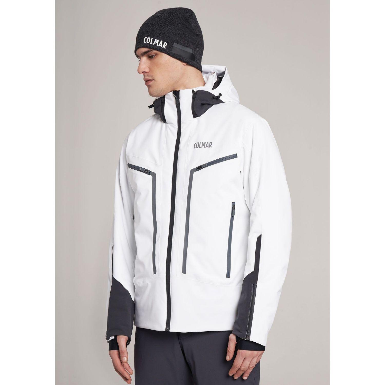 Pánska lyžiarska bunda COLMAR Schuss White / Black - 18/19 Bielo-čierna XXL