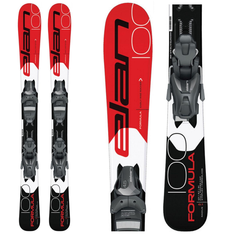 Zjazdové lyže ELAN Formula Red QS + EL 4.5 Čierno-červená 120 cm