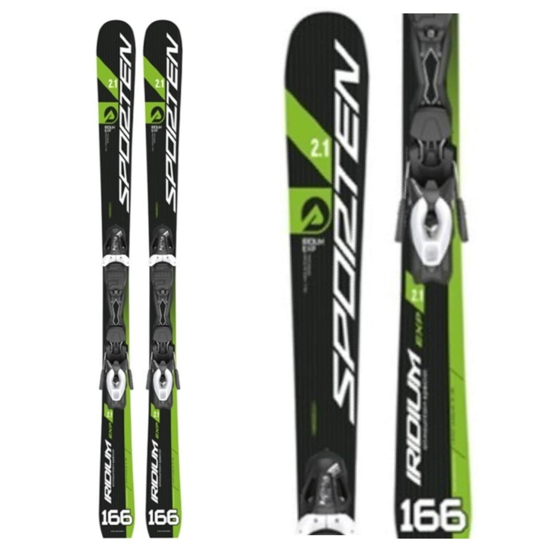 Zjazdové lyže SPORTEN Folc Iridium 2.1 EXP Čierno-zelená 166 cm