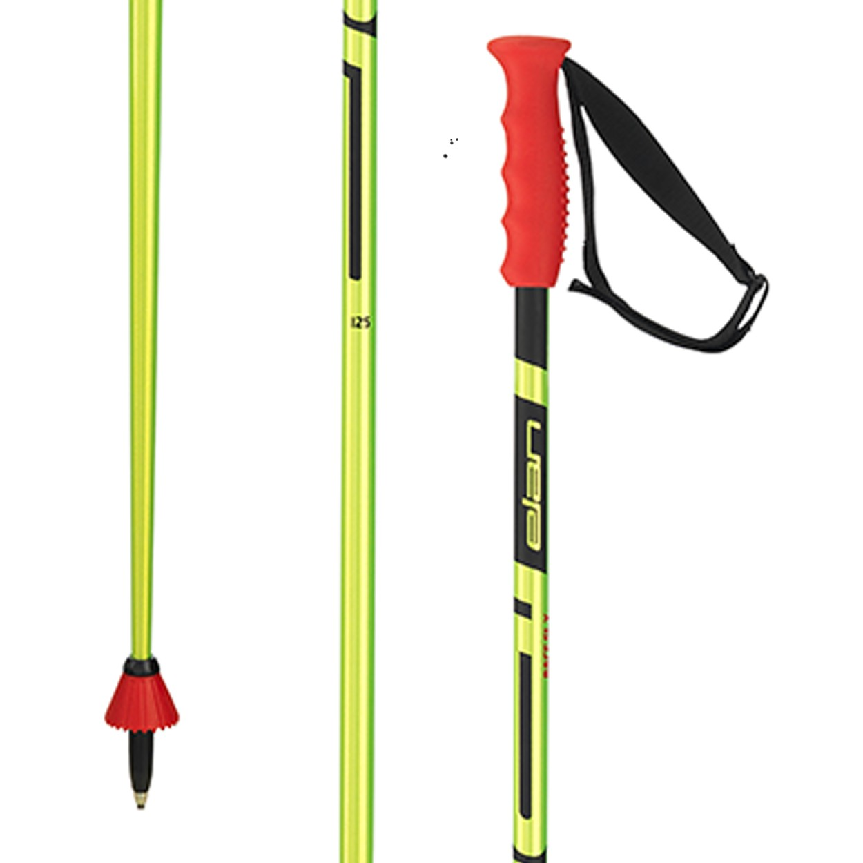 Lyžiarske palice ELAN Racerod SLX Green / Red Čierno-zelená 130 cm