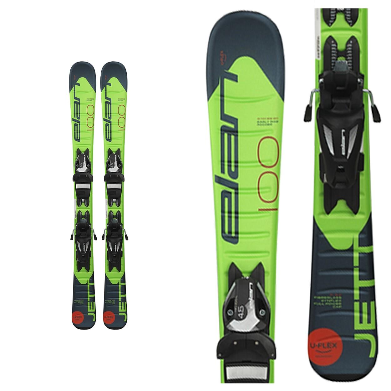 Zjazdové lyže ELAN Jett QS + EL 7.5 - 18/19 Zelená 130 cm