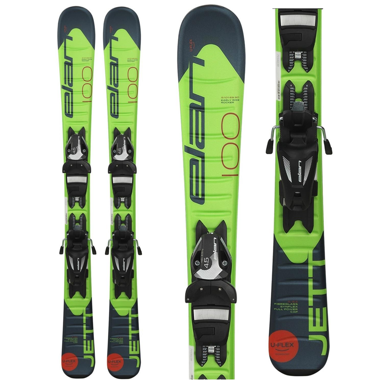 Zjazdové lyže ELAN Jett QS + EL 4.5 Zelená 100 cm