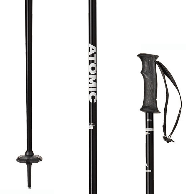 Lyžiarske palice ATOMIC AMT Black Čierna 135 cm