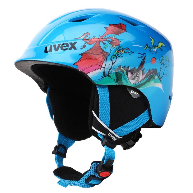 Detská lyžiarska prilba UVEX Airwing 2 JR Blue Modrá 46-50 cm