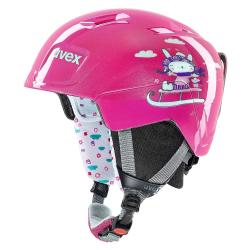 Dětská lyžařská helma UVEX Manic JR Light Pink
