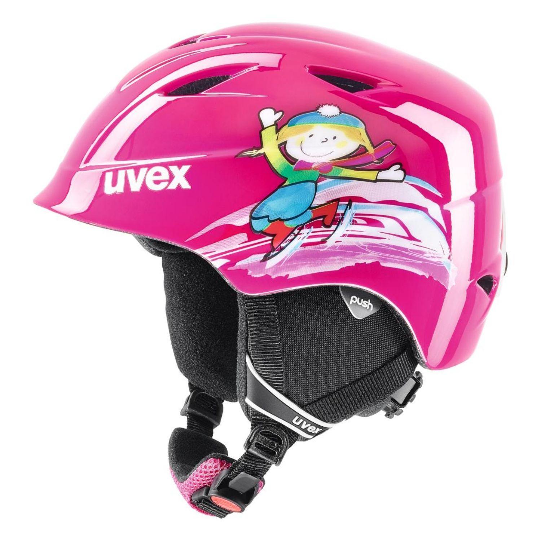 Detská lyžiarska prilba UVEX Airwing 2 JR Pink Ružová 46-50 cm