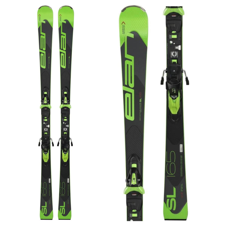 Lyže ELAN SL + EL 11 Čierno-zelená 165 cm