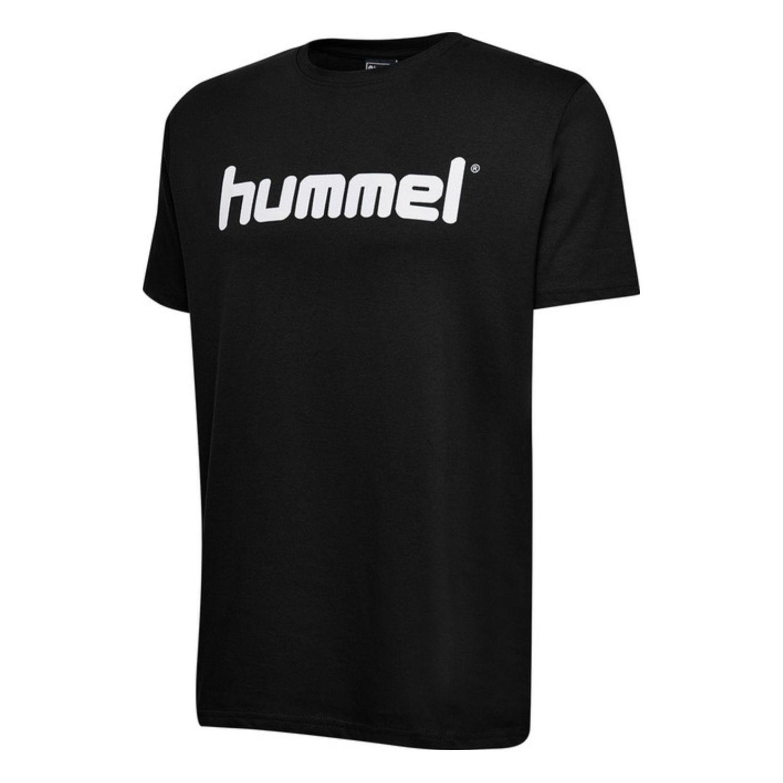 Tričko HUMMEL GO Cotton LOGO Black Čierna S