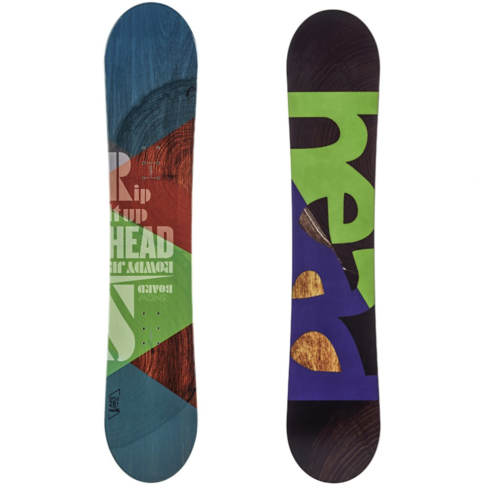 1be954248 Snowboard HEAD Rowdy JR White/Yellow
