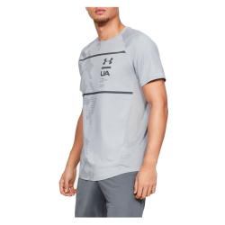 Tričko UNDER ARMOUR MK1 SS Q2 Printed Gray