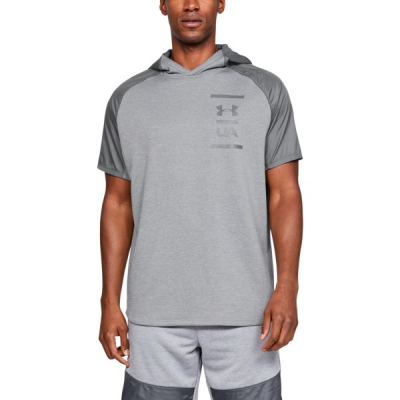 Tričko UNDER ARMOUR MK1 Terry SS Hood Gray