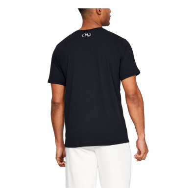 UNDER ARMOUR Stacked Left Chest SS Black