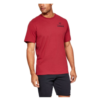 UNDER ARMOUR Stacked Left Chest SS Red