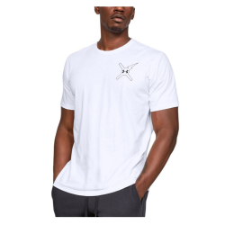 Tričko UNDER ARMOUR Wait For Nobody SS White