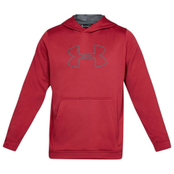 UNDER ARMOUR Men's Big Logo Hoodie Red
