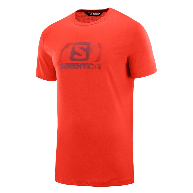 SALOMON Blend Logo SS Tee M Fiery Red Červená M