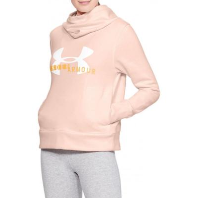Dámska mikina UNDER ARMOUR Cotton Fleece Sportstyle Logo Hoodie Orange