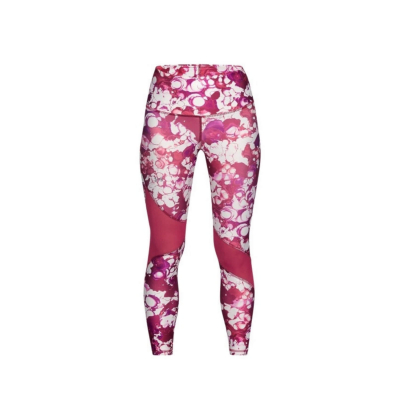 UNDER ARMOUR HeatGear Armour Ankle Crop Print Pink