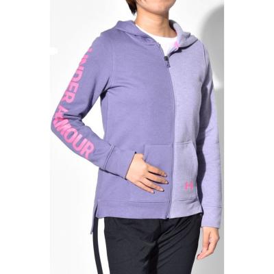 UNDER ARMOUR Rival Fleece Full Zip Hoodie Purple