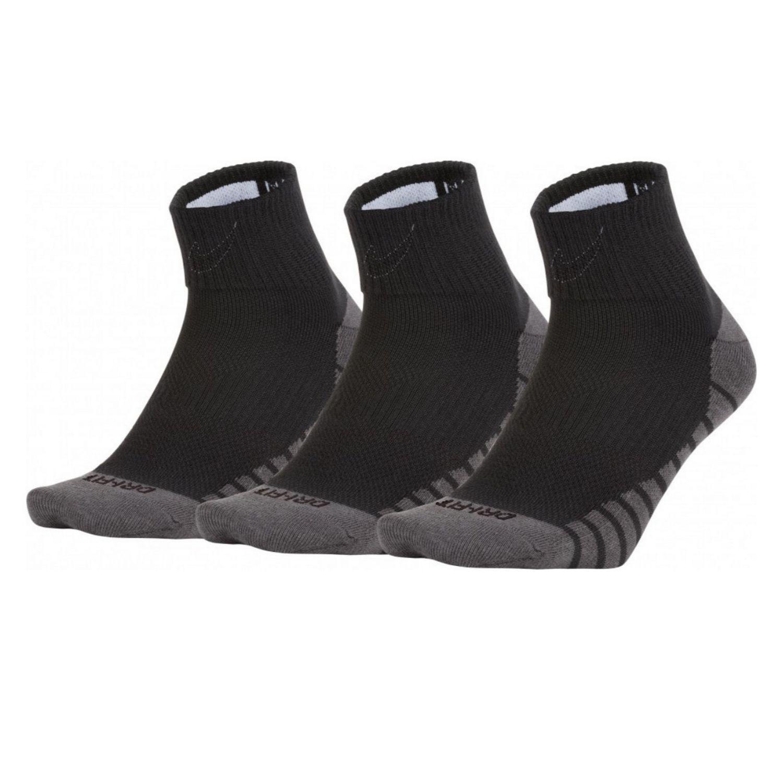 Ponožky NIKE Dry Lightweight Quarter 3-Pack Black/White Čierna 35-38