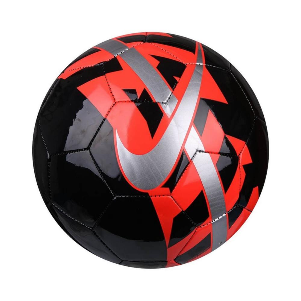 9fd7569697886 Futbalová lopta NIKE React Black/Bright Crimson/Metallic