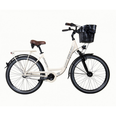 Mestský dámsky retro bicykelCOSSACK Economic City 26/3 Vanilka