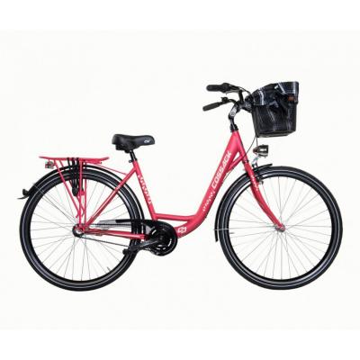 Mestský dámsky bicykel COSSACK Low Line 26/3 Malinový