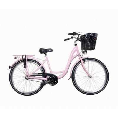 Mestský dámsky retro bicykel COSSACK Luna 26/3 Ružový