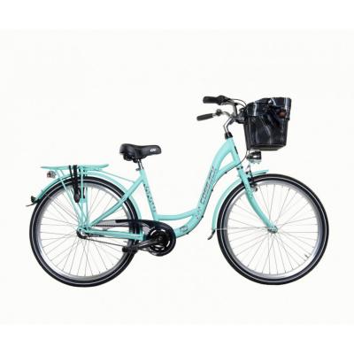 Mestský dámsky retro bicykel COSSACK Luna 26/3 Mätový matný