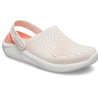 CROCS LiteRide Clog Barely Pink/White