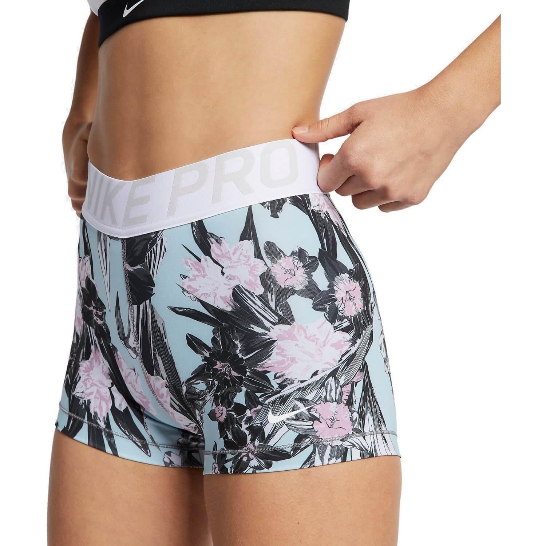 Kompresné šortky NIKE Hyp 3In White Bielo-čierno-ružová L