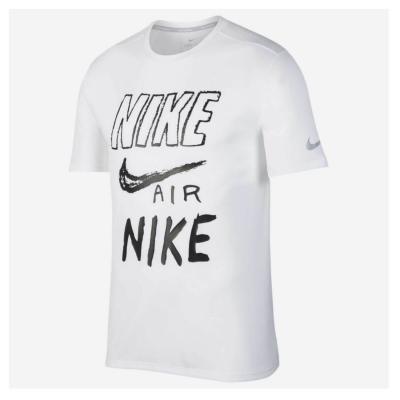NIKE M NK Breathe Run Top SS GX White