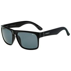 Slnečné okuliare RELAX Hess Shiny Black/Cloud Grey